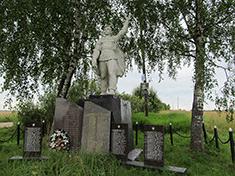 Богданово, Боевое захоронение и перезахоронение
