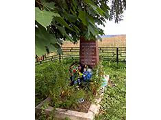 Озерецкое, Боевое и санитарное захоронение