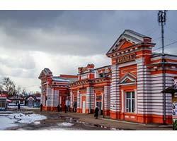 Железнодорожные станции от Москвы до Дмитрова