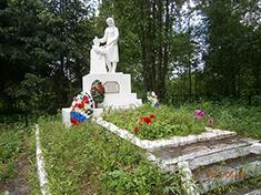 Подвязново, Боевое захоронение и перезахоронение