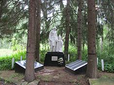 Василёво, Боевое захоронение и перезахоронение